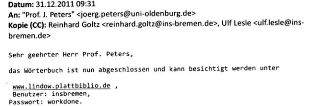 E-Mail vom 31.12.2012